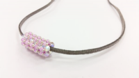 Crystal Tube Beadwork Necklace Jewellery Kit with SWAROVSKI® ELEMENTS Lilac/Pink